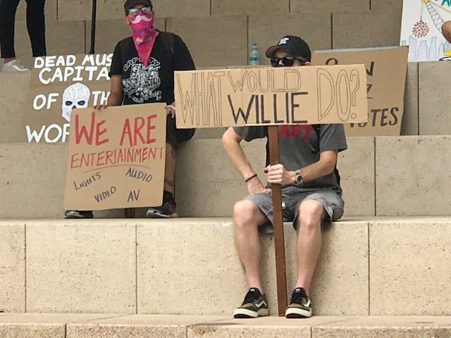 One of the numerous signs during the Come and Save It rally at Austin City Hall