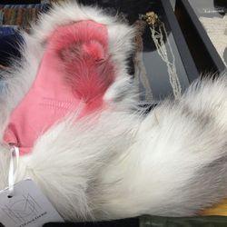 Fox fur mittens, $90