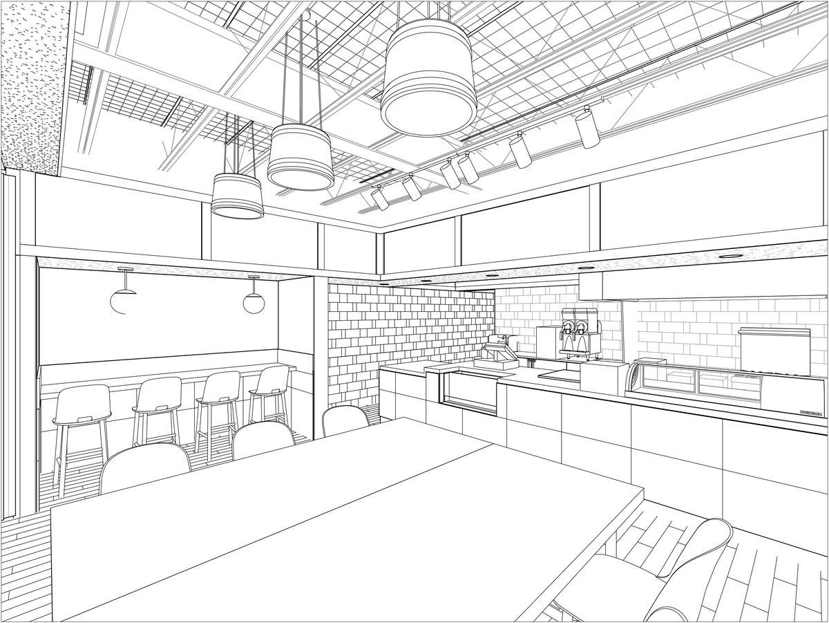 Rendering of Uroko's interior