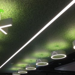 The lights in the training room