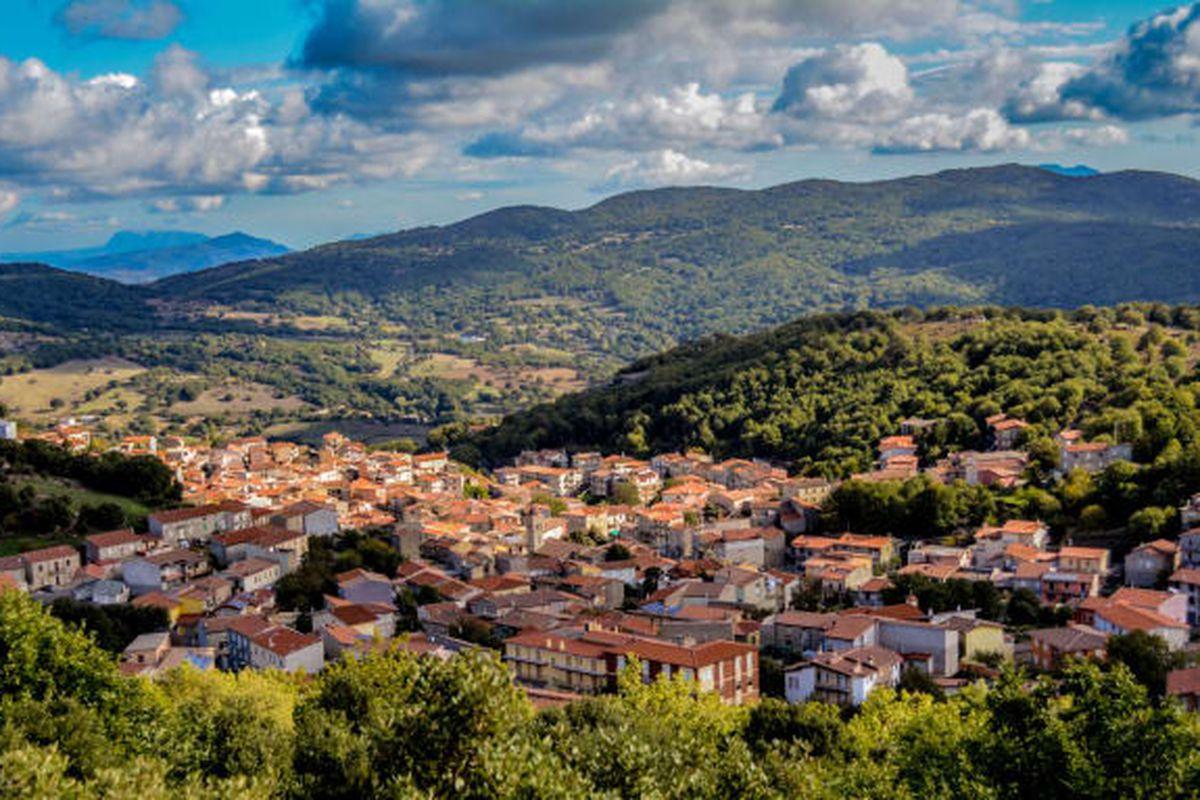 Italian island village of Ollolai