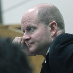 Utah County prosecutor Chad Grunader rested the prosecution of Martin MacNeill's murder trial in 4th District Court in Provo Thursday Nov. 7, 2013.