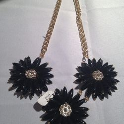 Plastic-flower necklace, $15