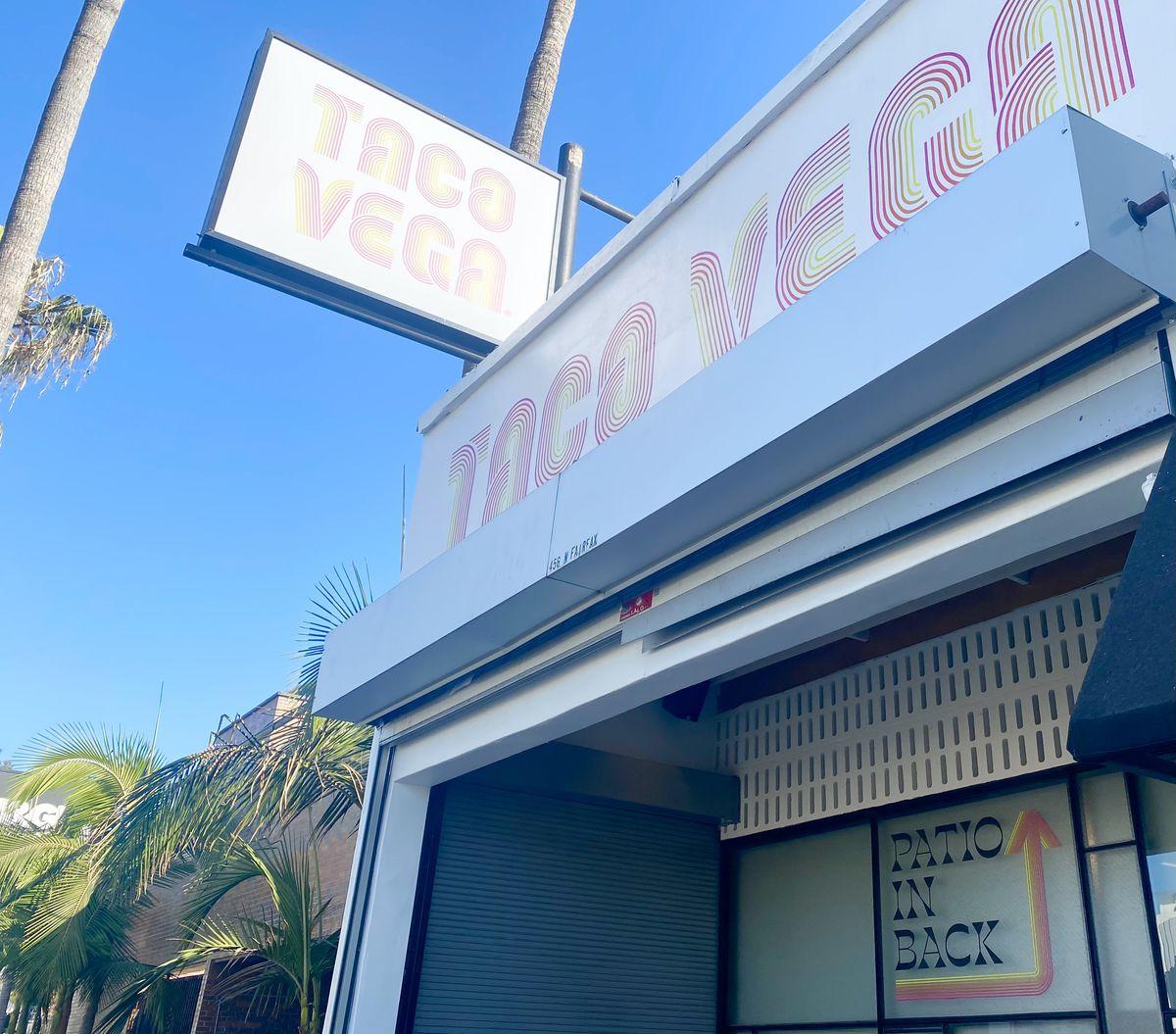 Taco Vega signage