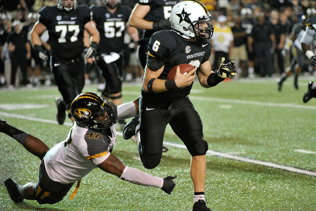 Counting completions, sacks, scrambles, and interceptions, ACS netted two positive yards for the Commodores in the first quarter.