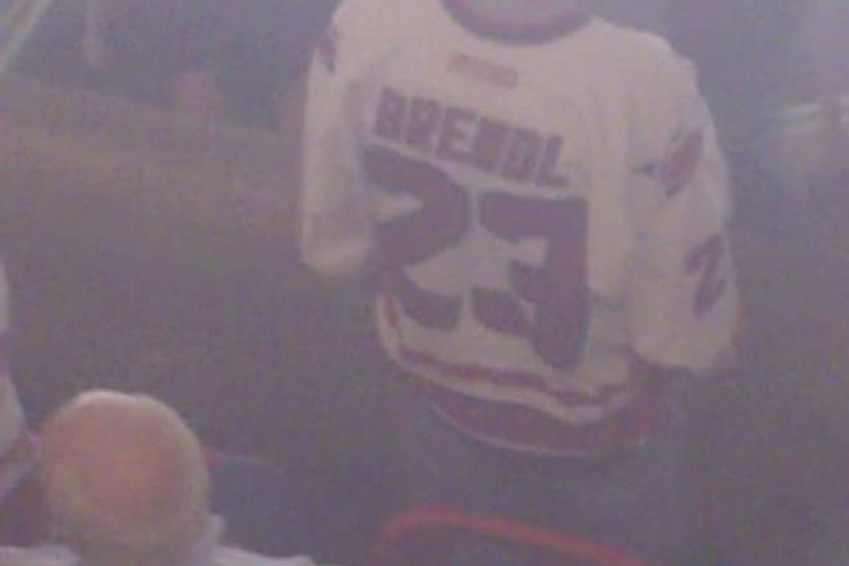 Brendl jersey seen at the RBC during the 2009 playoffs.