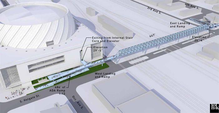 Seattle Arena Pedestrian Bridge