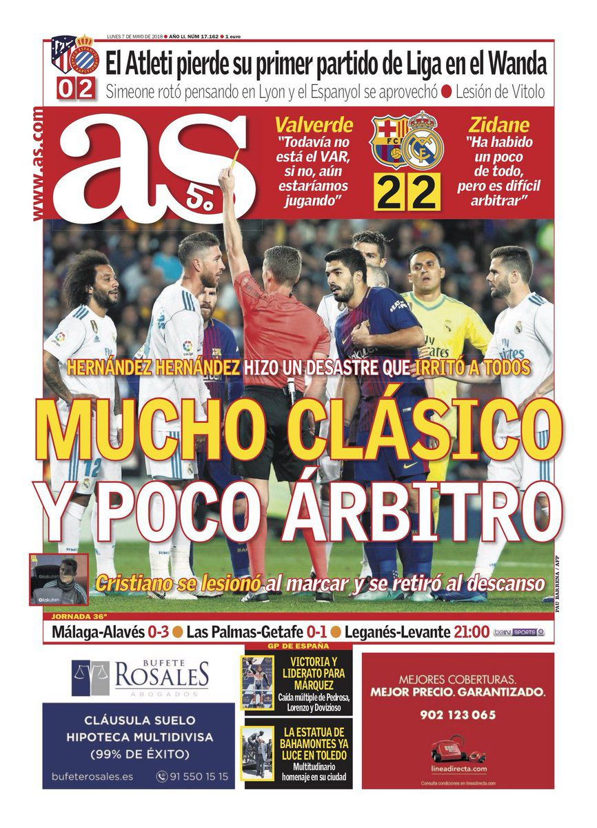 How The Papers Reacted To Barcelona S Clasico Draw With Real