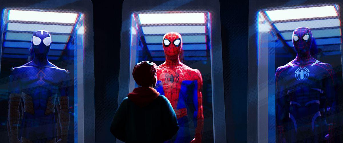 Risultati immagini per spiderman a new universe frames