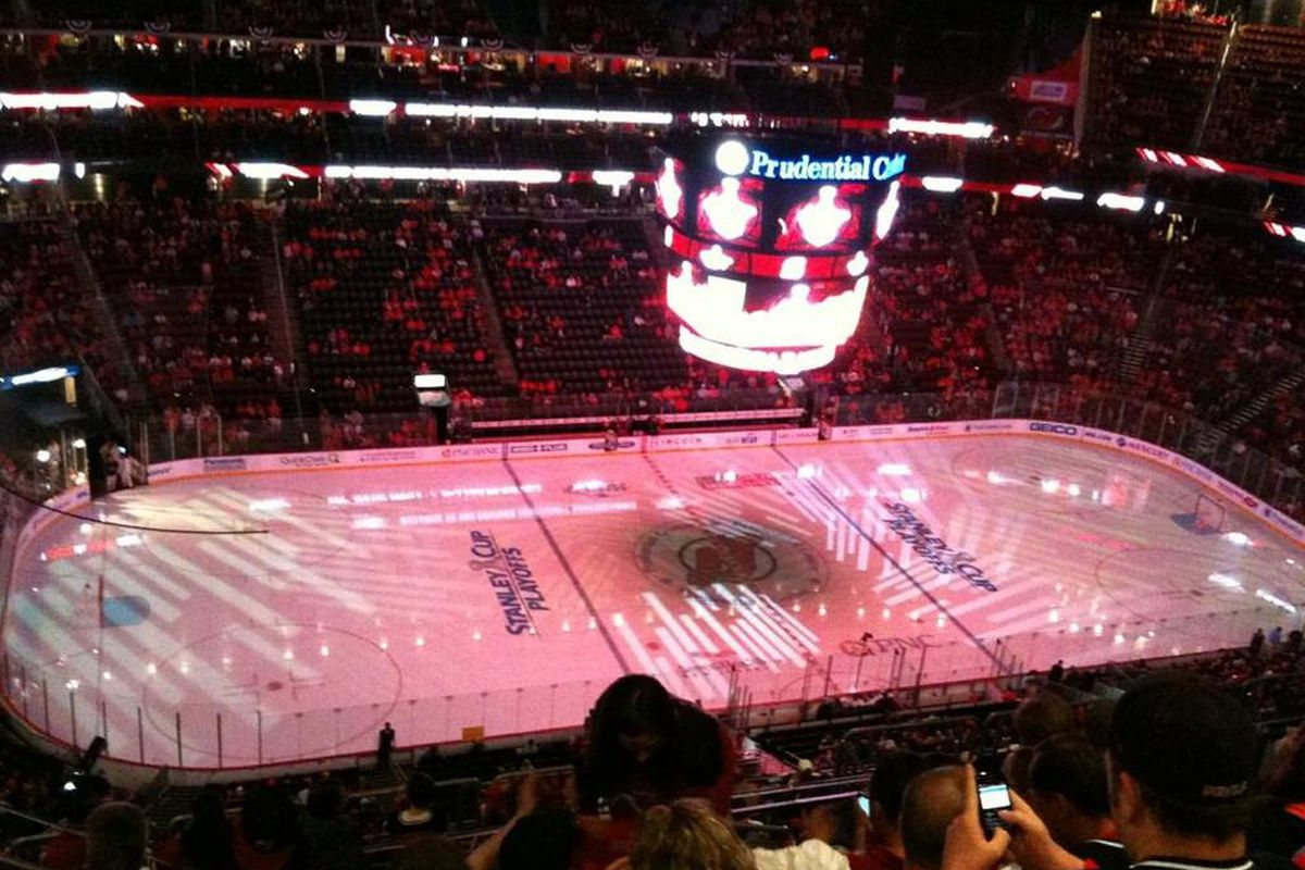 On fan atmosphere at the Prudential Center - Broad Street Hockey fd09dcd87ed4