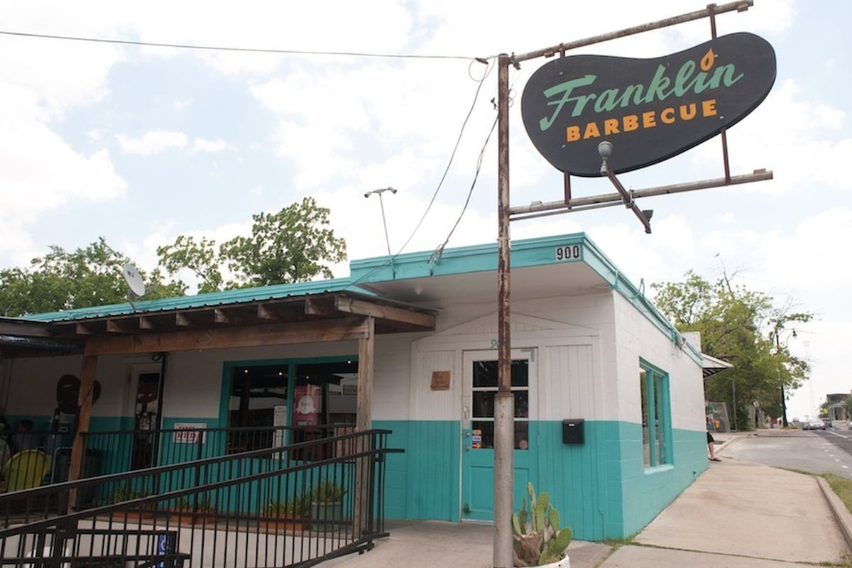 Franklin Barbecue in Austin, just named the top barbecue joint in Texas by Texas Monthly.