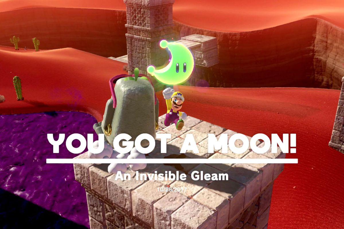 super mario odyssey — mario gets a moon