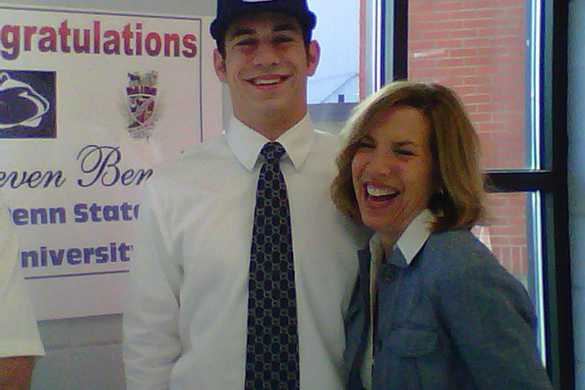 Steven Bench and Mrs. Bench, at a celebration in Cairo HS yesterday. (Photo: Courtesy of the Bench family.)
