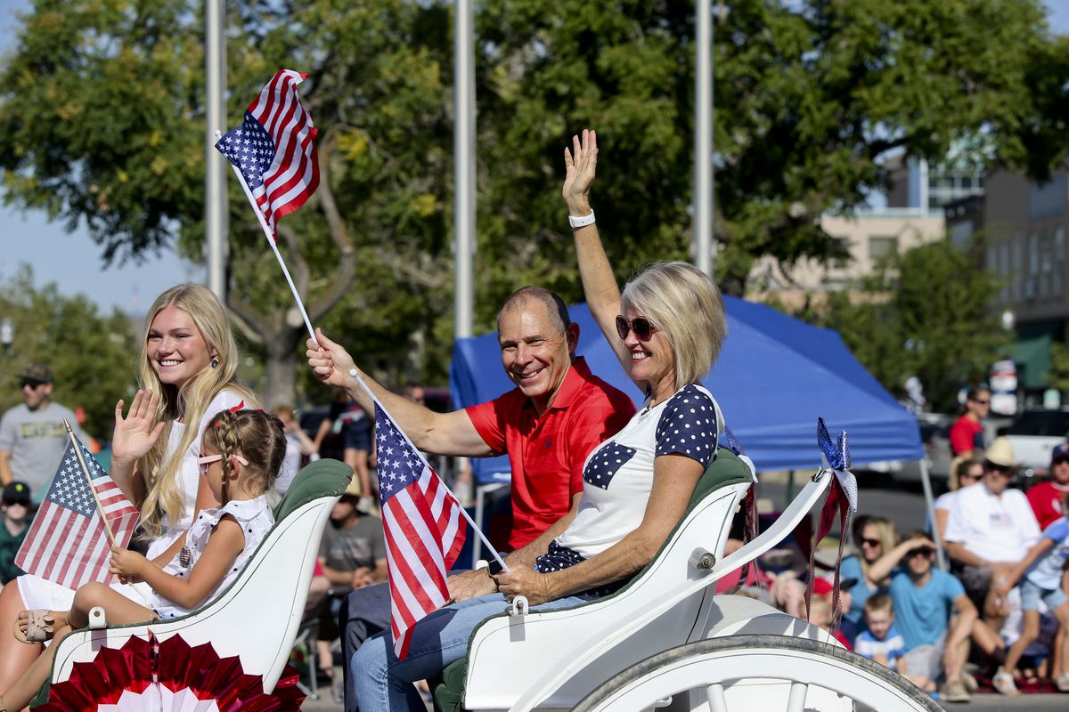 The Freedom Festival Grand Parade in Provo, Utah on Tuesday.<br>  Dominic Valente/Daily Herald via AP