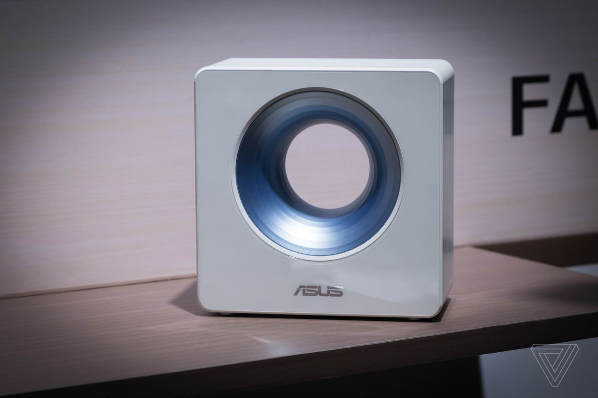 Asus unveils a dual-band router with a hole in it