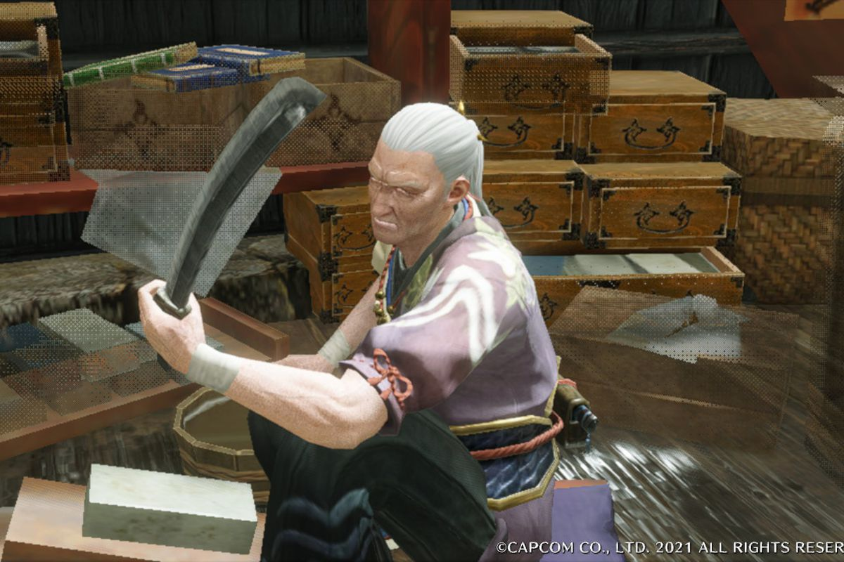 The blacksmith in Monster Hunter Rise
