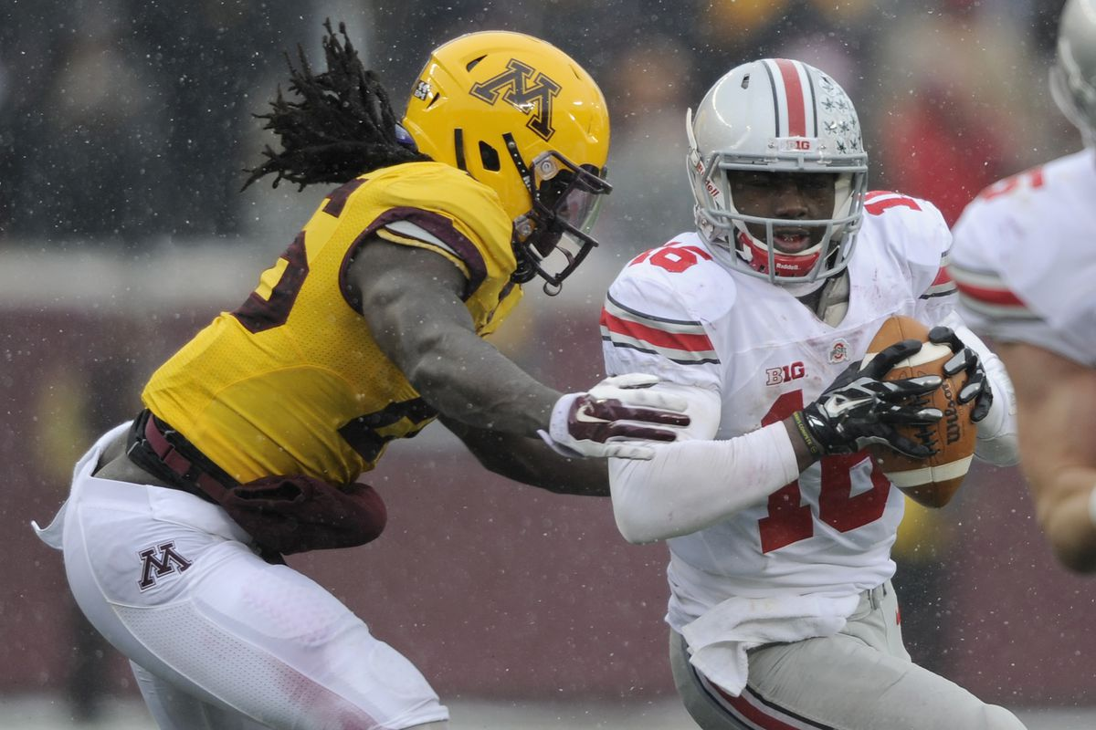 One of the few times the Gophers contined J.T. Barrett