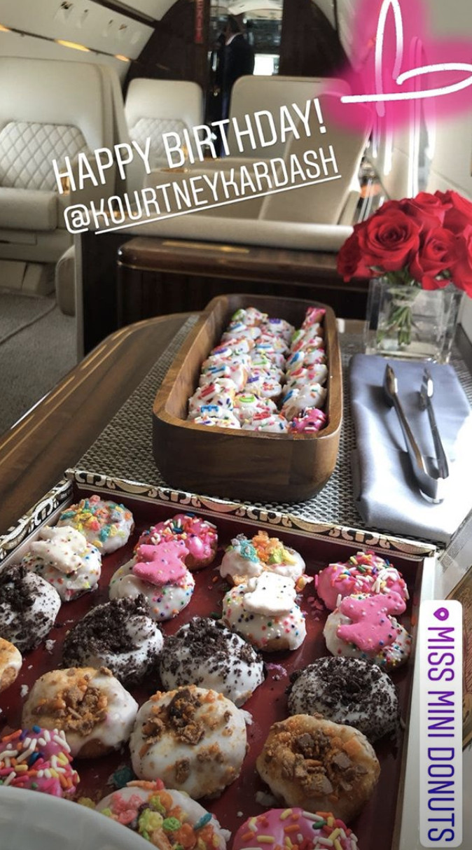 a spread of tiny, colorful donuts taken from Kim Kardashian's instagram page