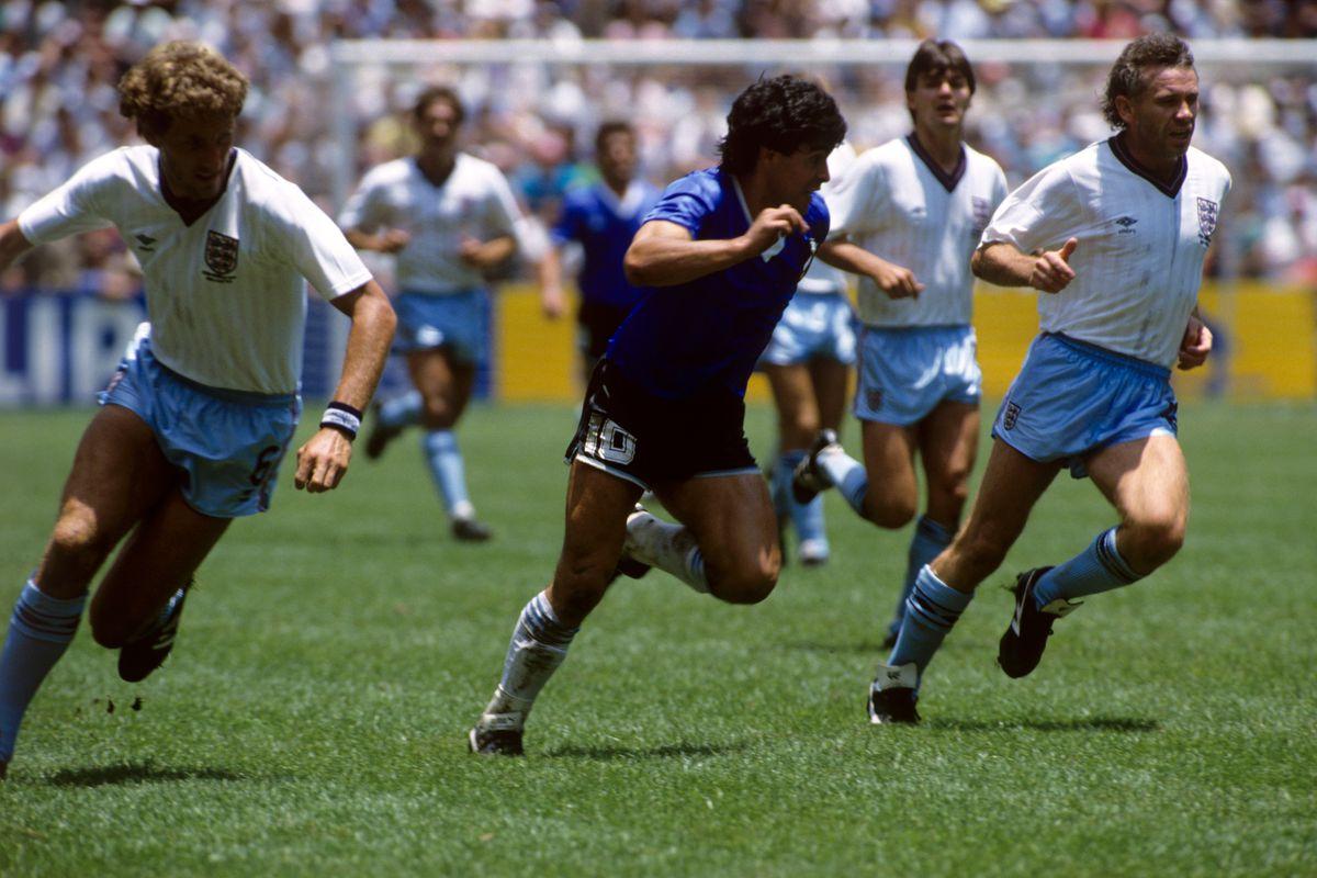 Soccer - World Cup Mexico 86 - Quarter Final - England v Argentina - Azteca Stadium