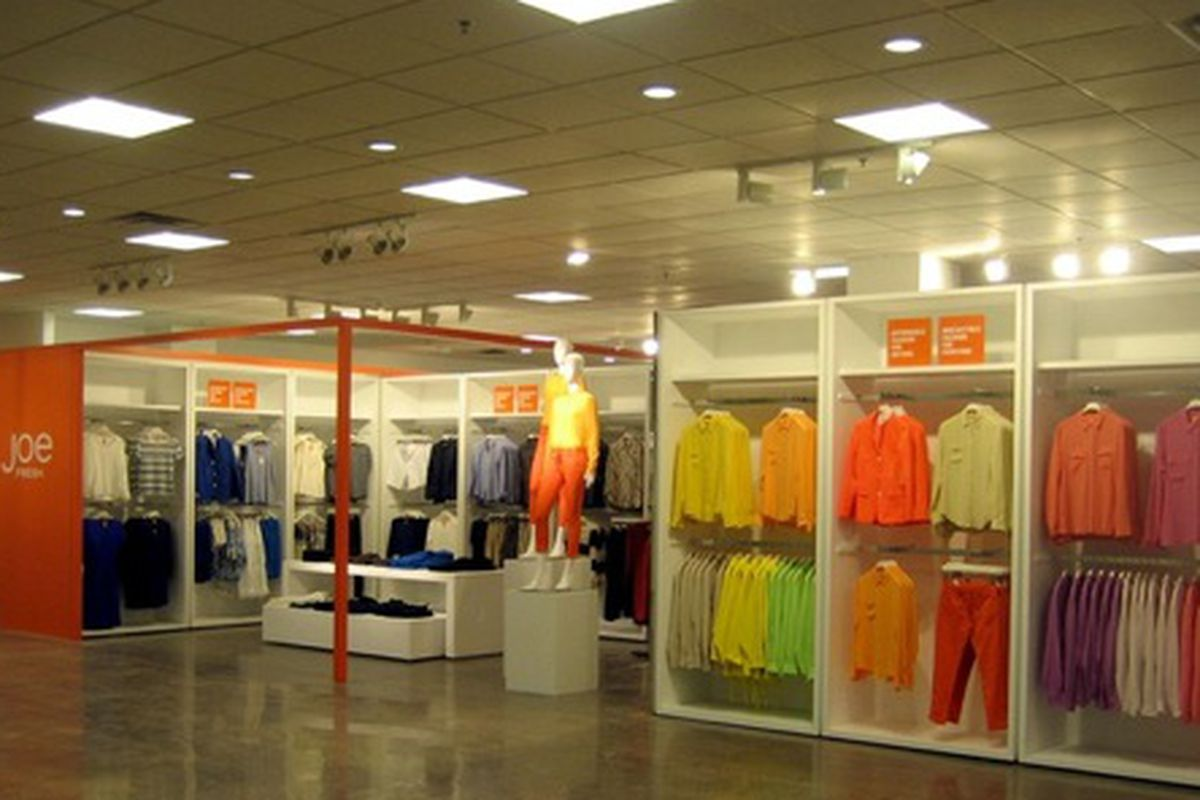 An example of the Joe Fresh shop-in-shops coming to JCPenney, via WWD