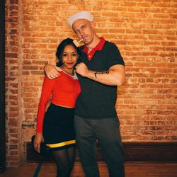 Popeye and Olive. The ultimate couple's costume.