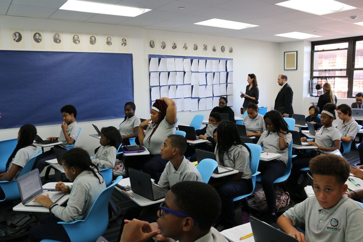 A classroom at Brooklyn Laboratory middle school.