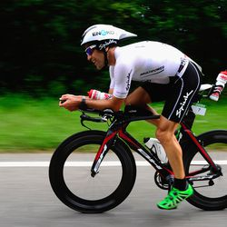 Eneko Llanos of Spain competes during the bike leg of Challenge Roth on July 20, 2014 in Roth, Germany. (Photo by Lennart Preiss/Getty Images)