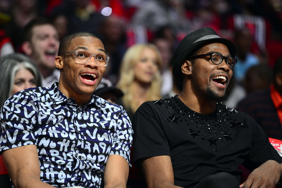 Even when not at the events, KD and Westbrook always make their All-Star presence known.