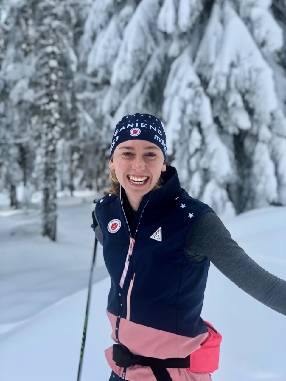 Lucy Hochschartner is an elite biathlete