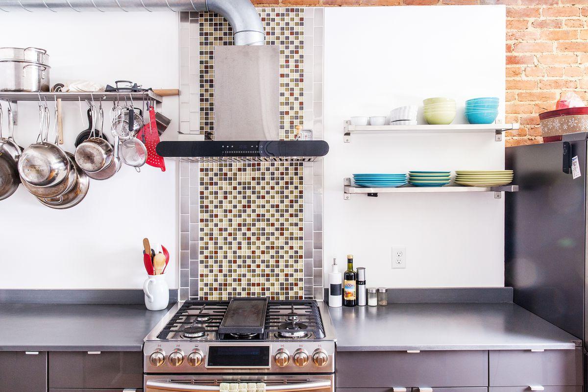 Renovated kitchen in Shea Fredericks home.