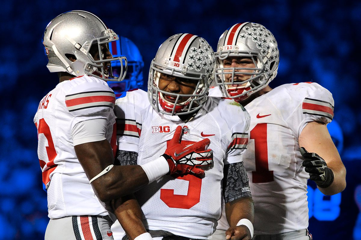 Braxton Miller and Ohio State celebrate a 2012 touchdown.
