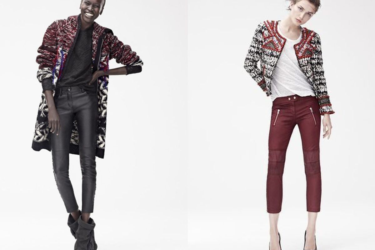 """Images via <a href=""""http://racked.com/archives/2013/09/25/part-of-the-isabel-marant-for-hm-lookbook-has-leaked.php"""">Racked National</a>"""