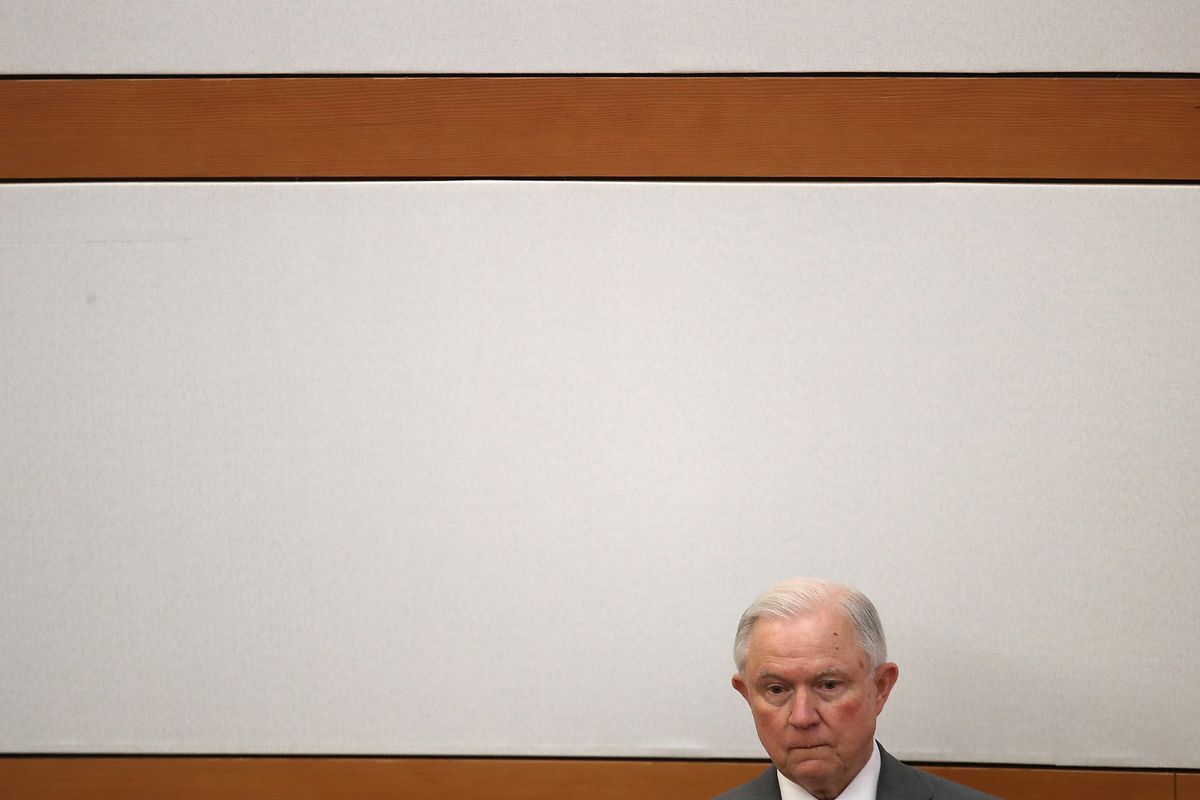 Attorney General Jeff Sessions Speaks At The National Narcotic Officers' Associations' Coalition