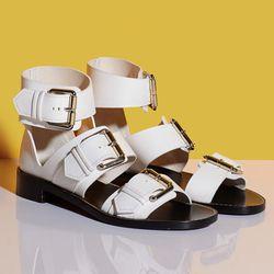 Proenza Schouler large buckle flat sandals, $220 (were $925)