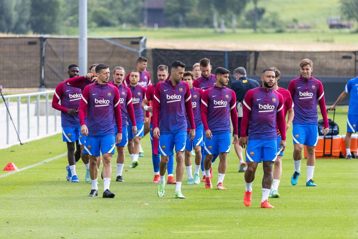 FC Barcelona training camp...