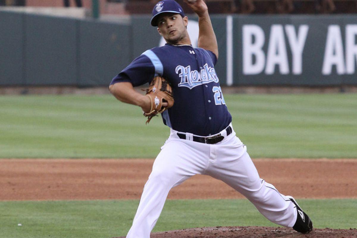 Houston Astros pitching prospect Xavier Cedeno (Photo courtesy of Corpus Christi Hooks)