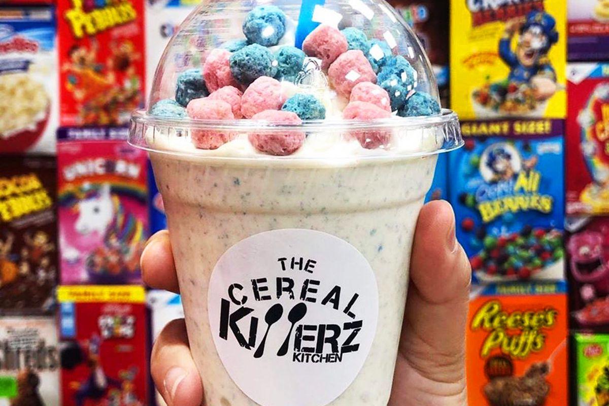 The Cotton Candy Crunch milkshake at TheCereal KillerzKitchen, headed to Centennial.
