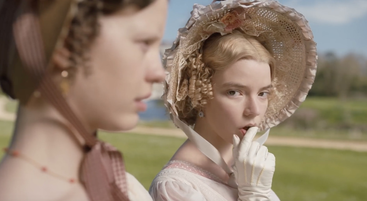 anya taylor-joy as emma, giving some serious side eye in Emma