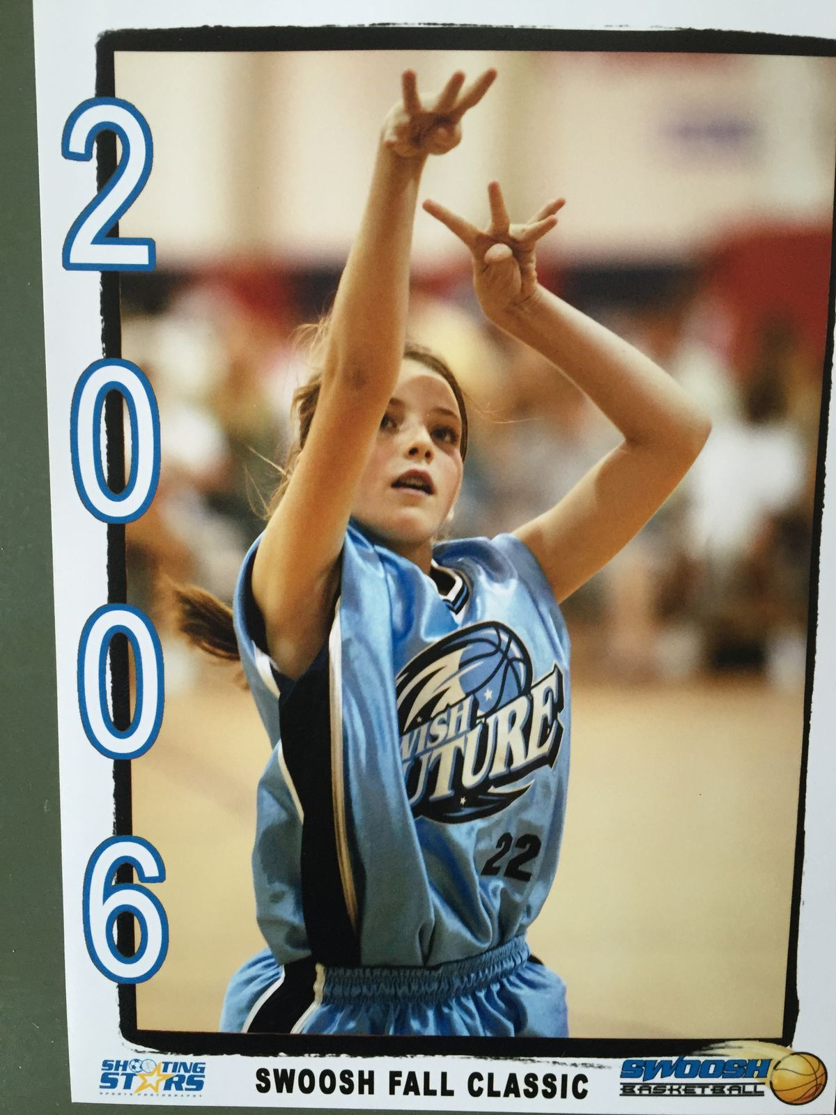 Katie Lou Samuelson playing basketball in 2006. | Provided