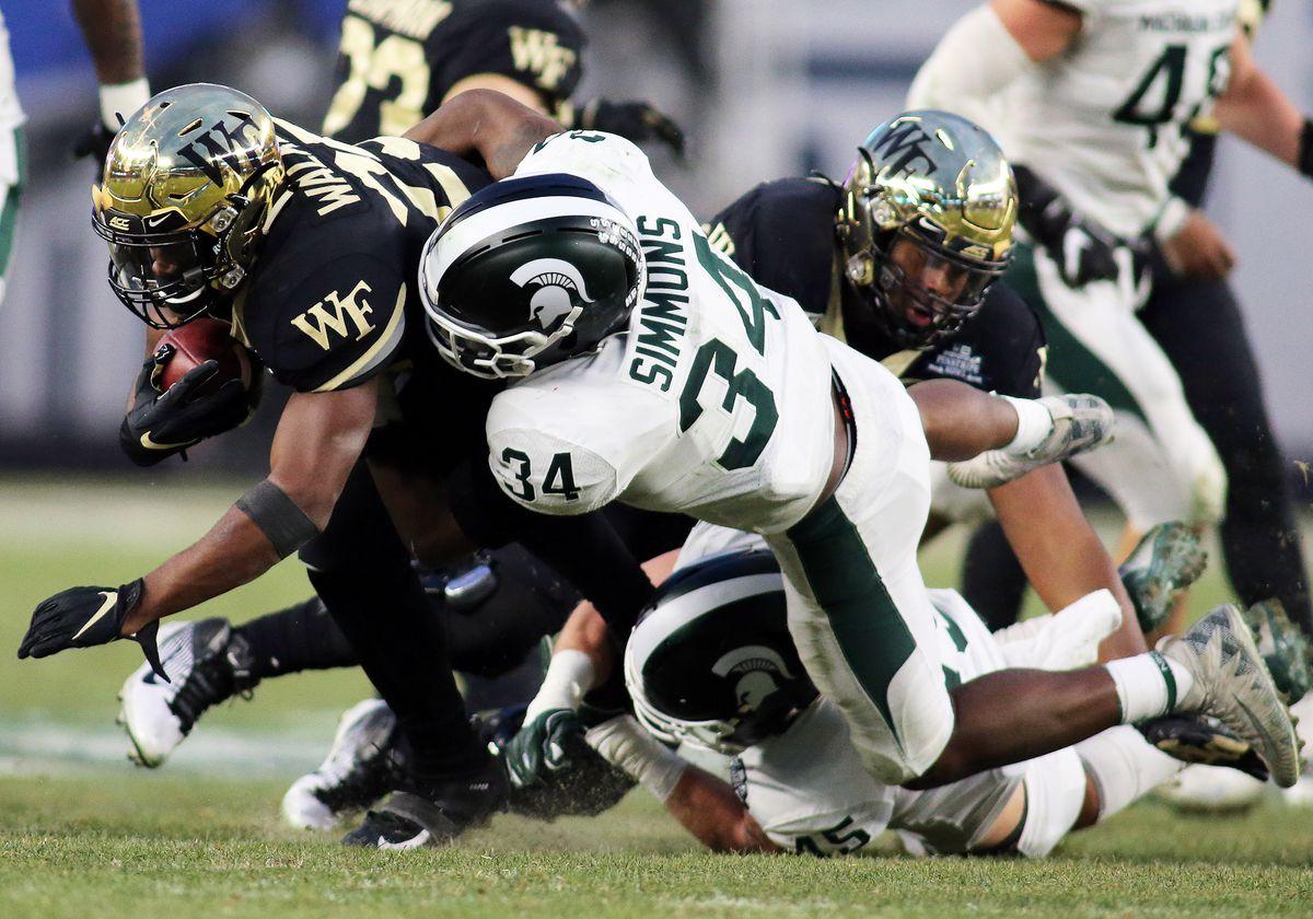 COLLEGE FOOTBALL: DEC 27 Pinstripe Bowl - Michigan State v Wake Forest