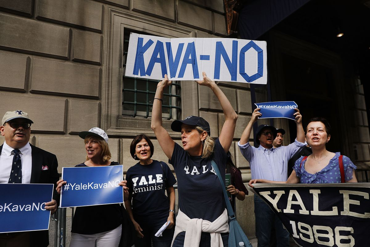 Protestors Rally Against Brett Kavanaugh Nomination Outside Yale Club In NYC