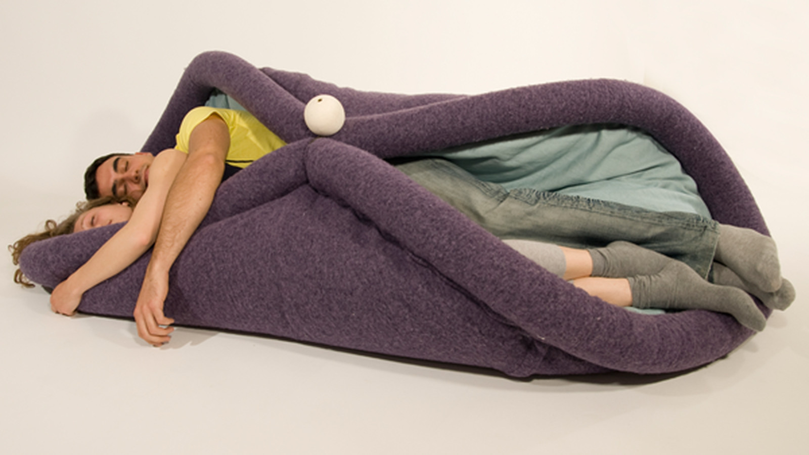 this chair folds you up into a taco eater