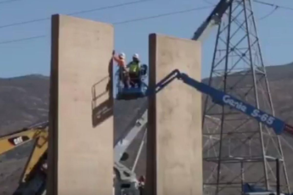 Construction crews have already begun work on prototypes for President Donald Trump's proposed border wall.