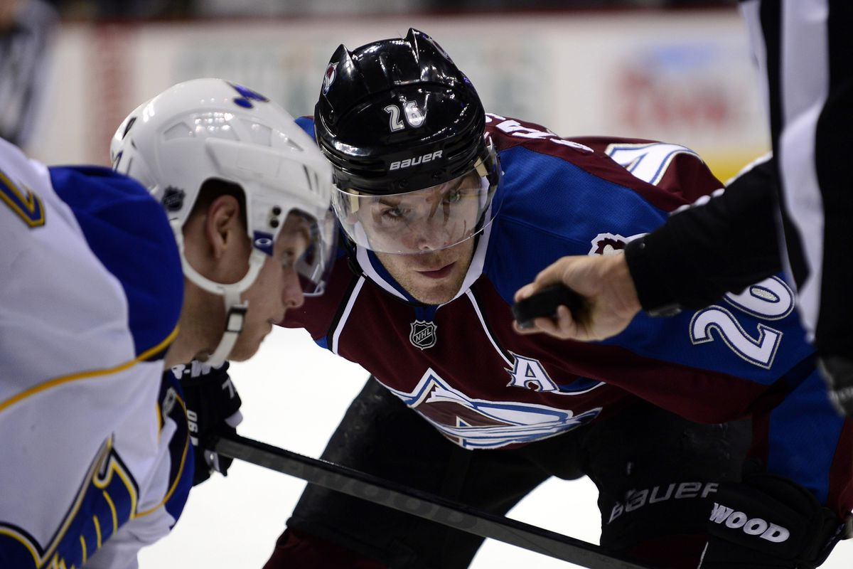 Second line centers Sobotka and Stastny face off