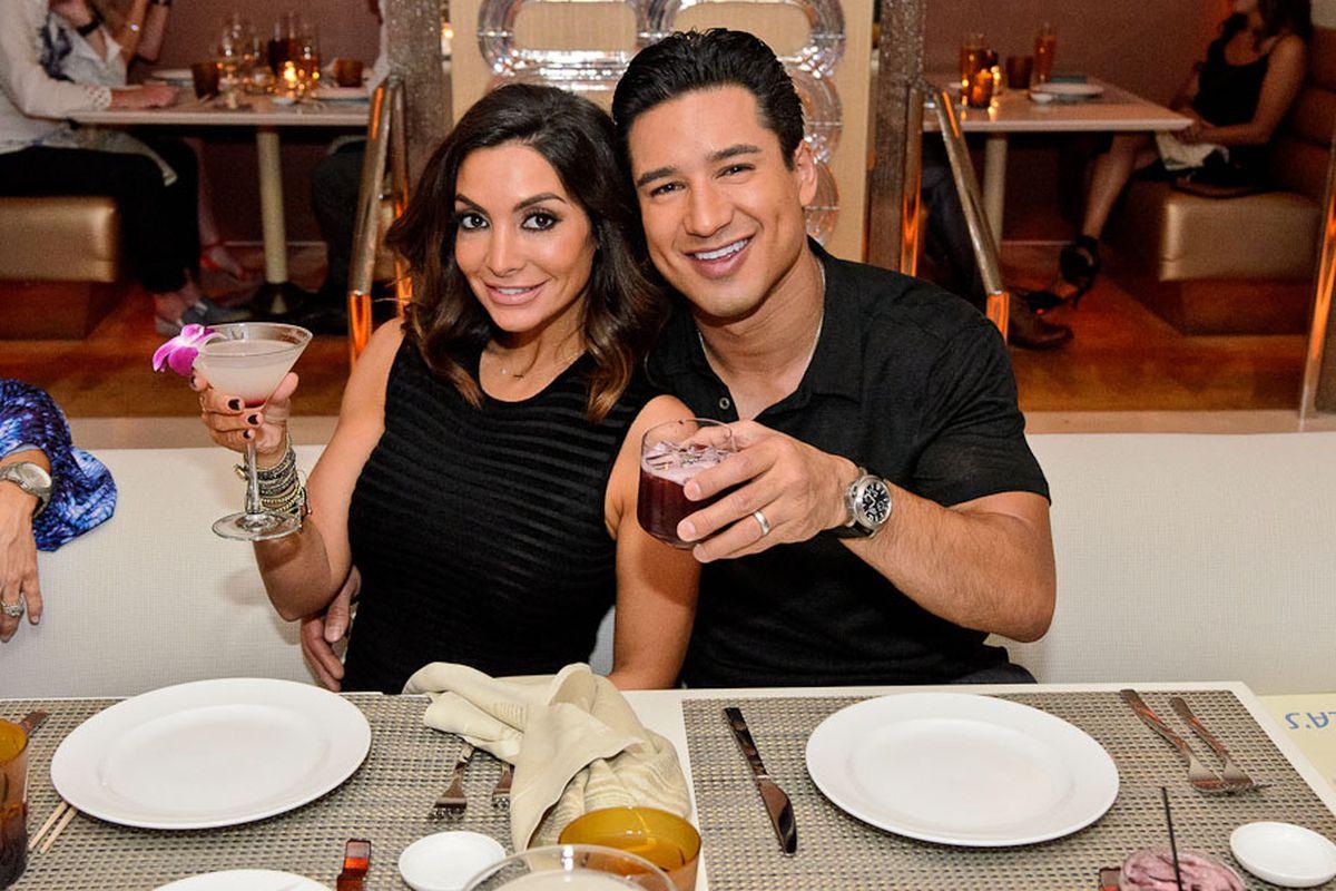 Courtney Mazza Lopez and Mario Lopez
