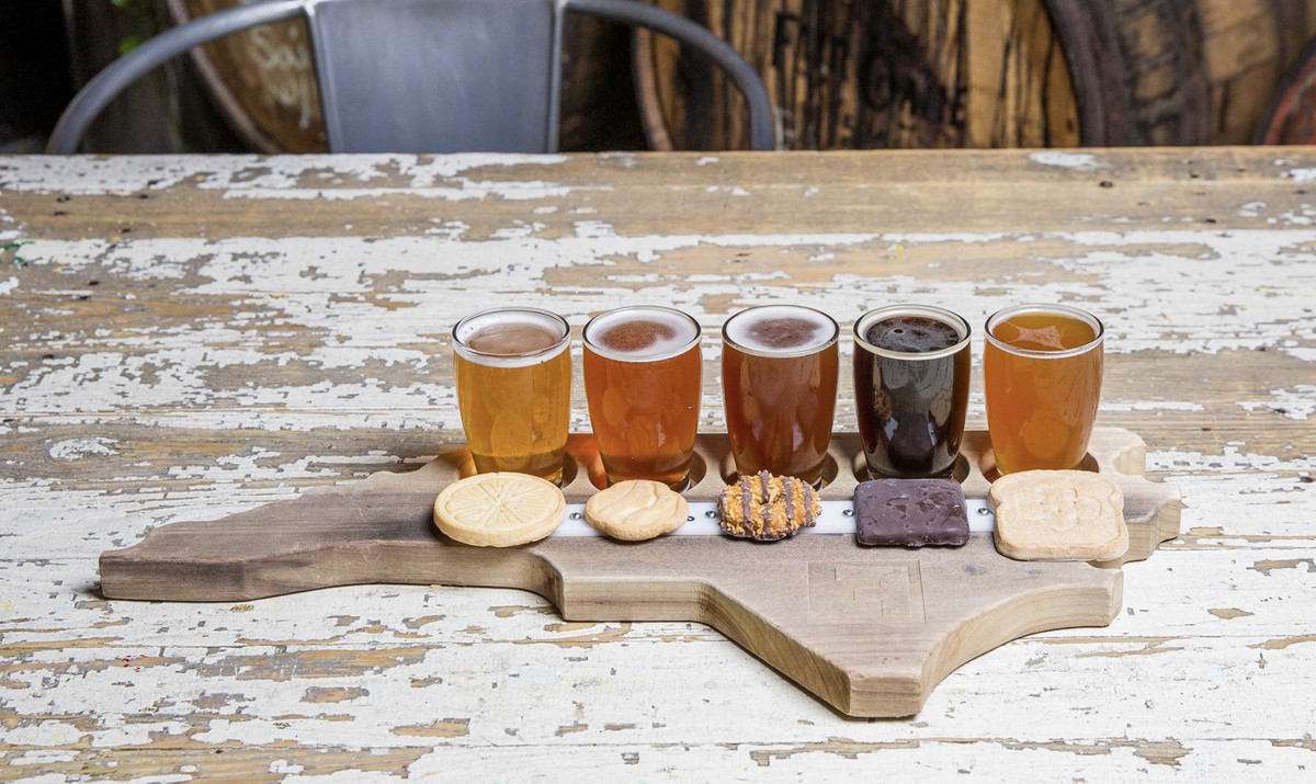 Girl Scout cookie pairing with Fullsteam beers