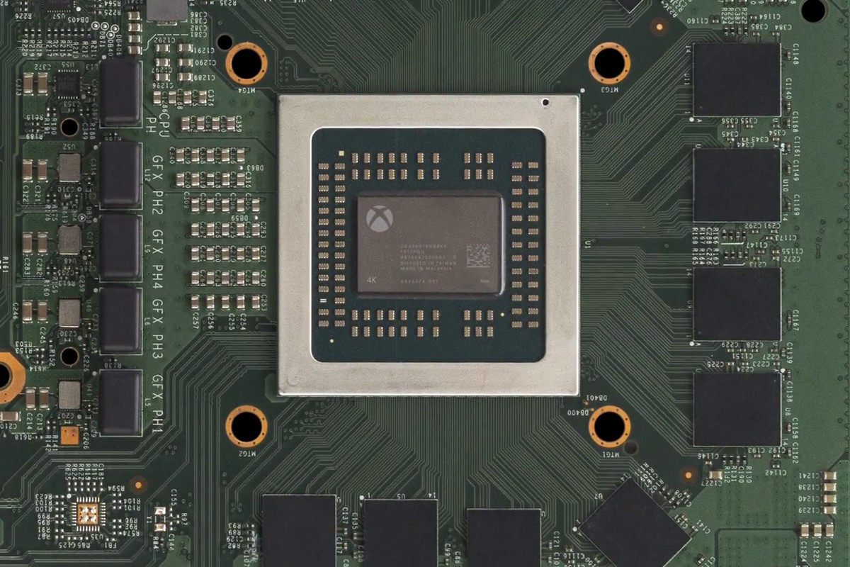 Xbox Scorpio motherboard - system-on-a-chip