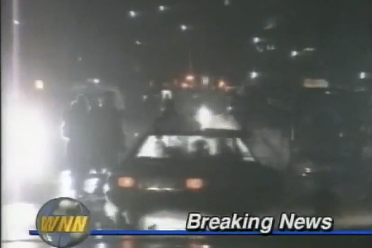 breaking news: it is the year 2012 and we are shooting film of cars from 1983 and using graphics from 1991