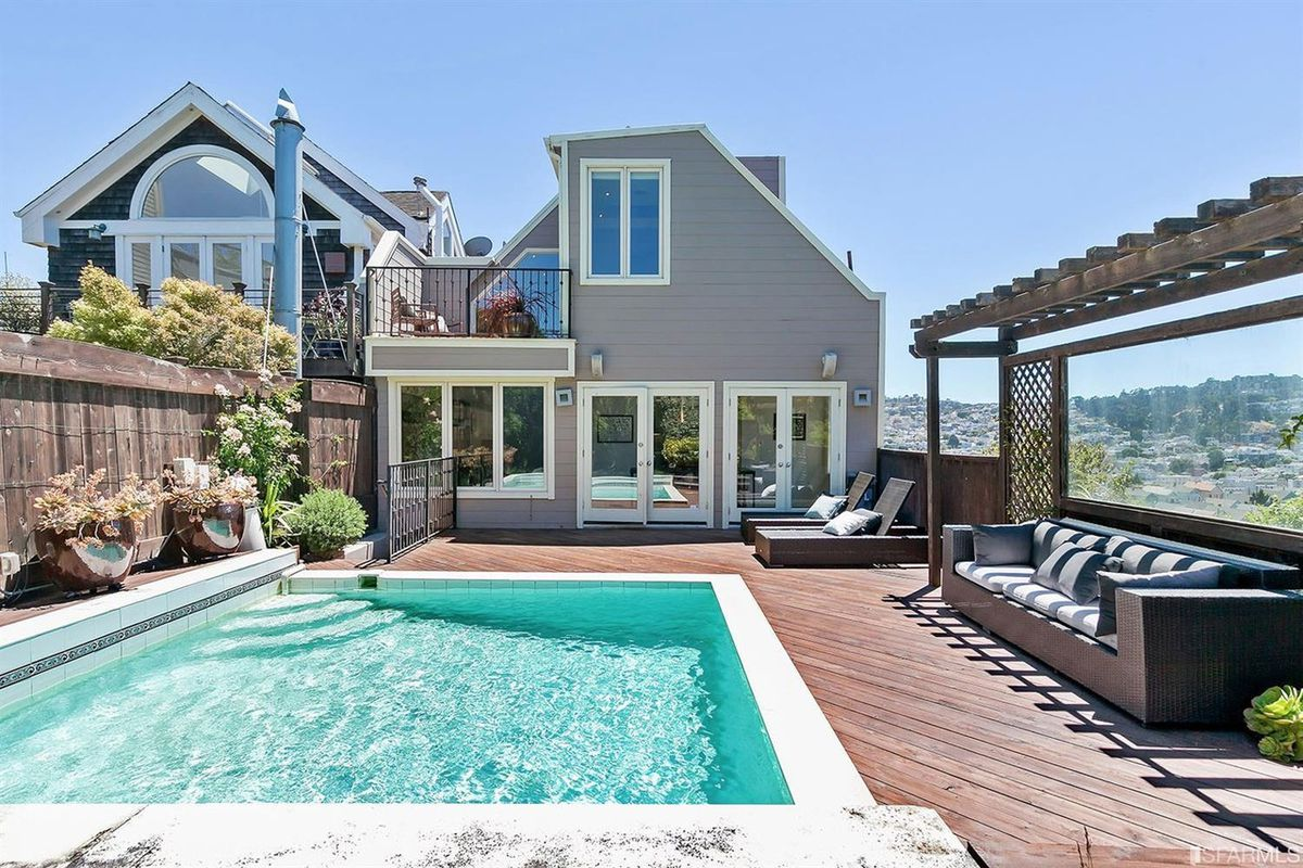 4 san francisco homes with pools curbed sf for Pool and pool house
