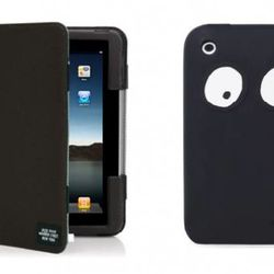Jack Spade iPad Folio ($70), available at Apple stores. iPhone case ($35), available at Jack Spade.